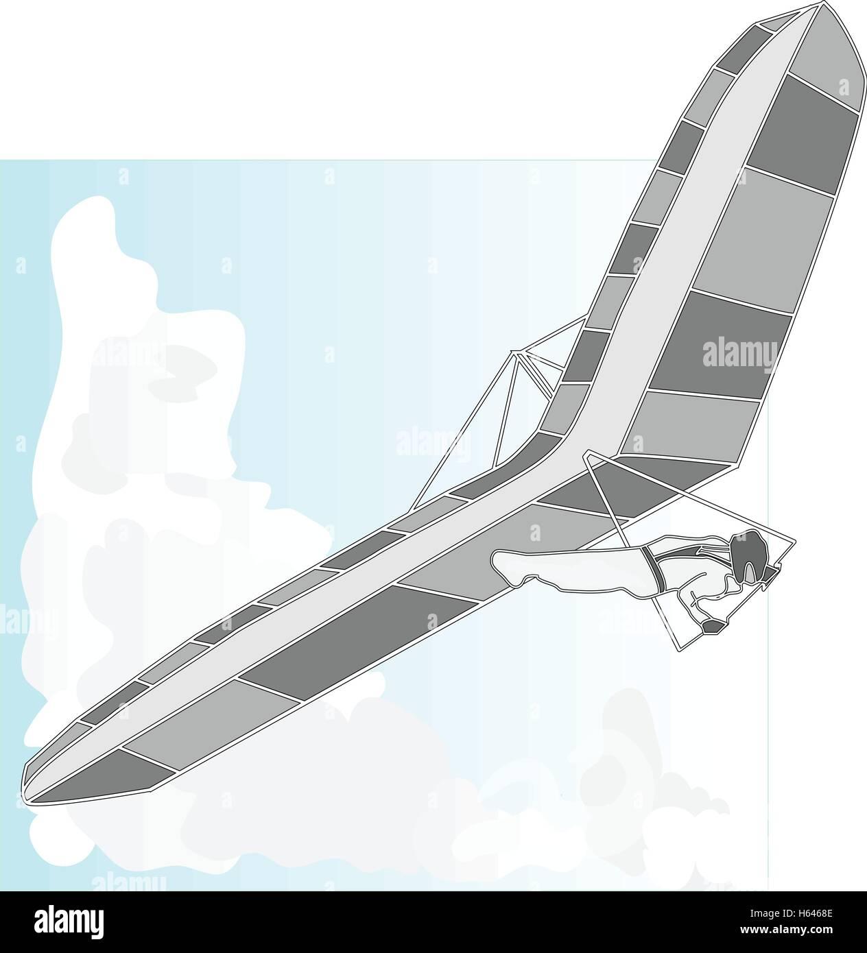Hang Glider Vector Vectors Stock Photos & Hang Glider Vector