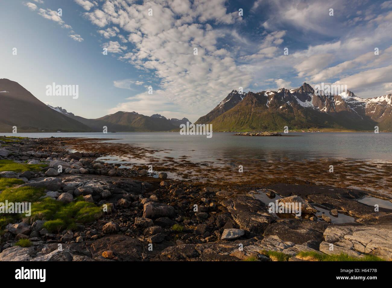 Sildpollnes, Austvagoy, Lofoten Islands, Norway - Stock Image