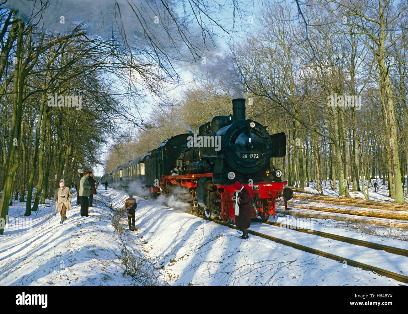 Steam train excursion from Muenster with P8 class loco no