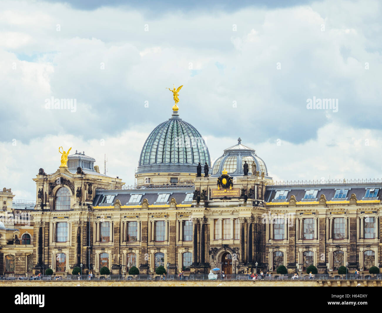 Germany, Dresden, dome of the academy for visual arts - Stock Image
