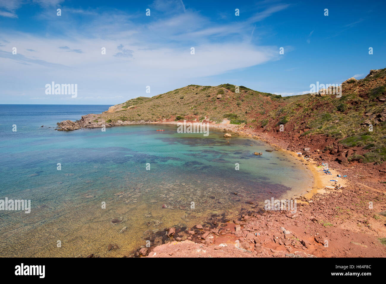 Spain, Balearic Islands, Caballeria beach - Stock Image