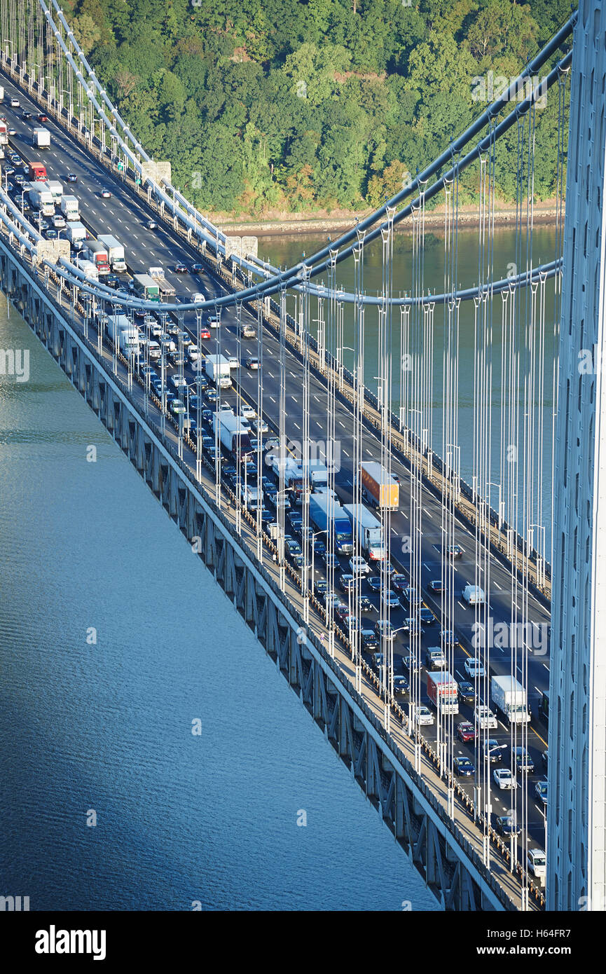 USA, New York City, George Washington Bridge - Stock Image