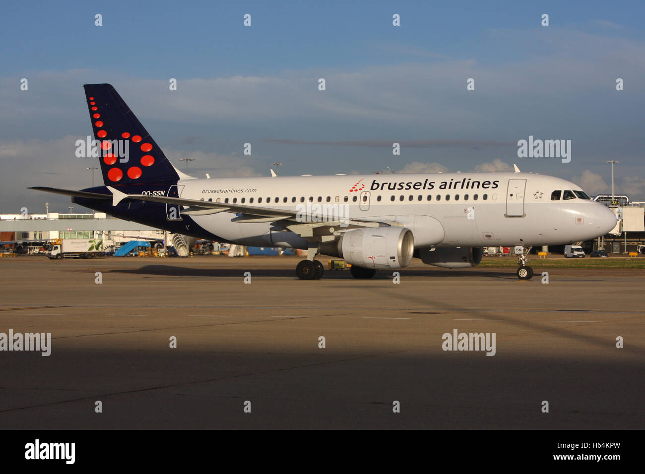 BRUSSELS A319 Stock Photo