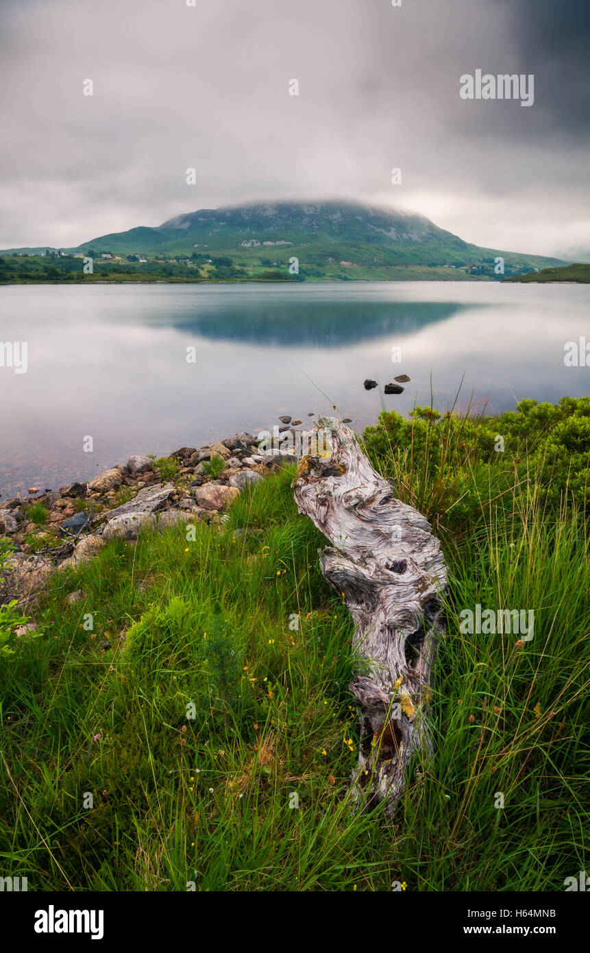 Dunlewey Lough at Donegal, Ireland - Stock Image