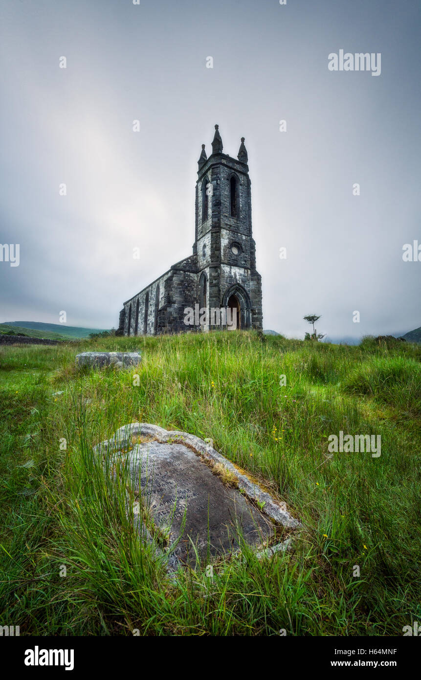 Dunlewey Church In Donegal, Ireland - Stock Image