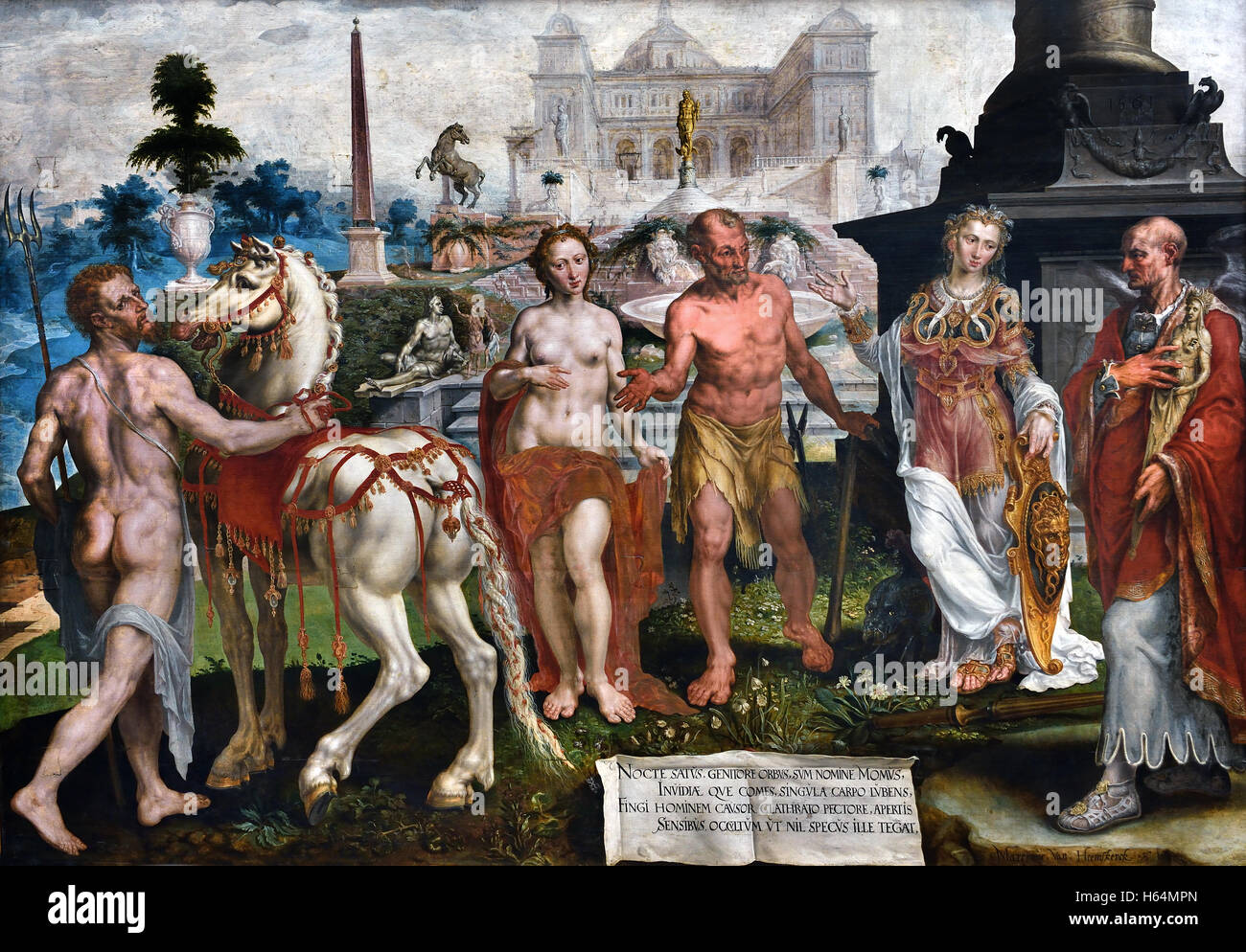 Momus blames the works of the gods Maarten van Heemskerck (1498–1574) Dutch