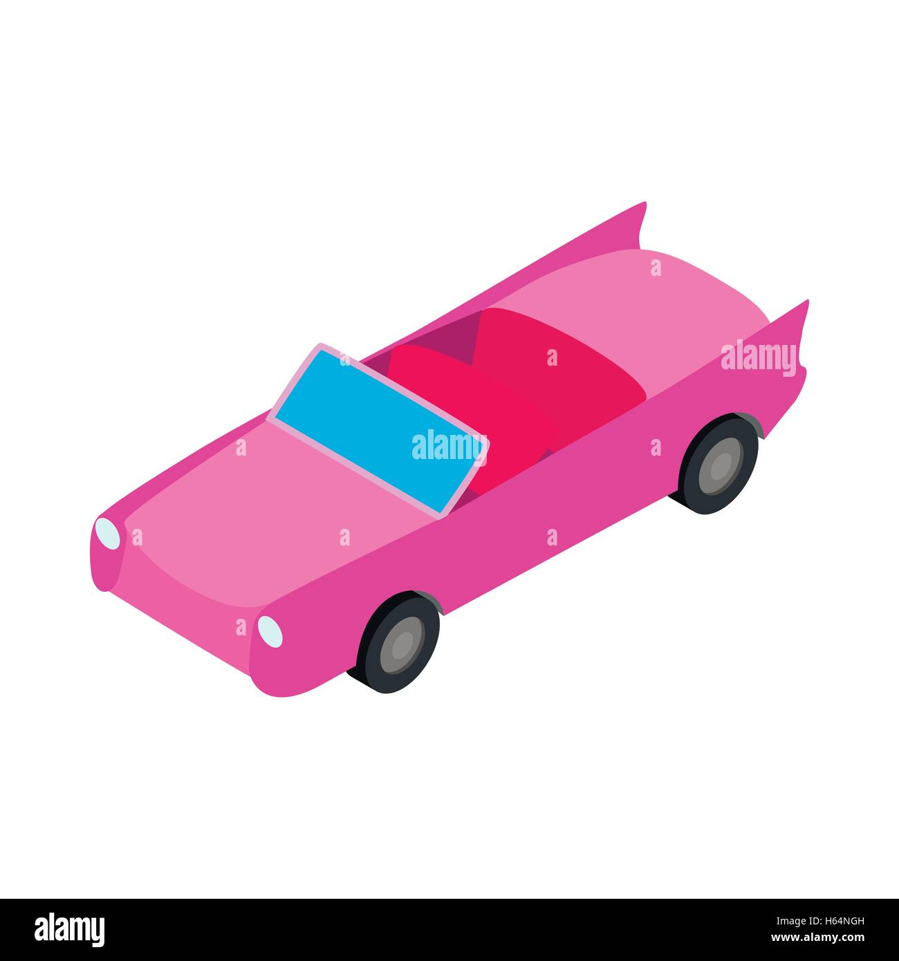 Car convertible icon, isometric 3d style - Stock Image