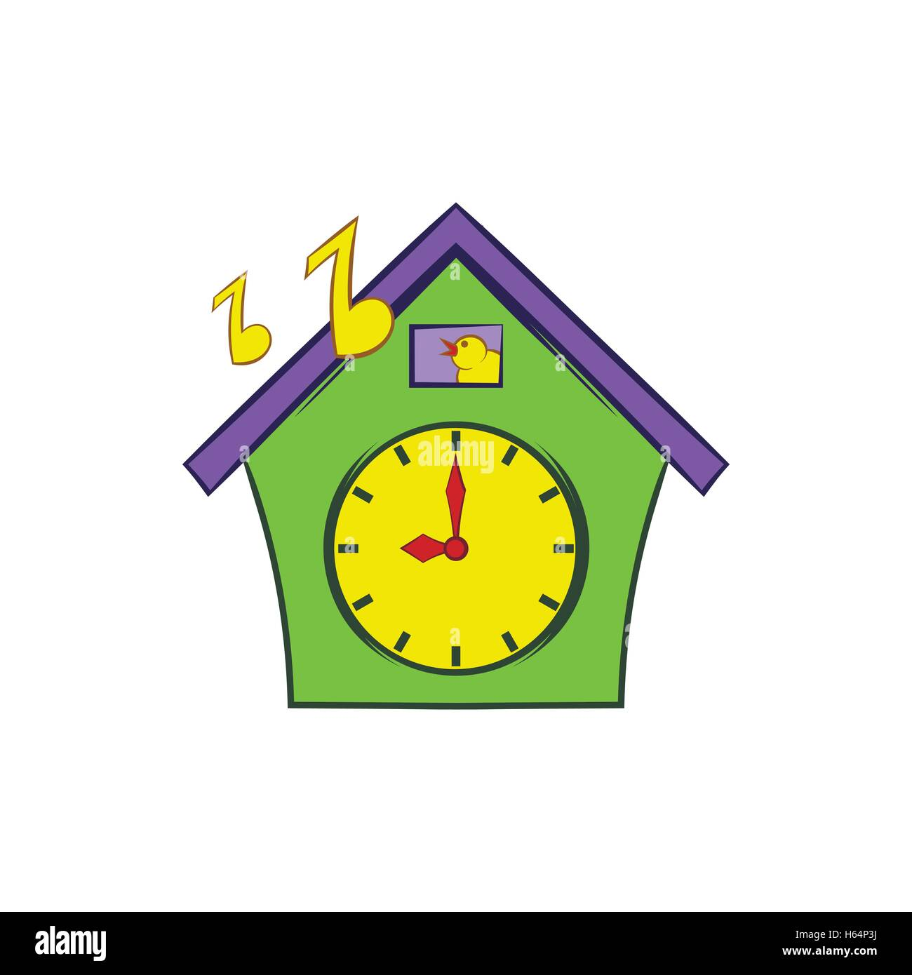 Cuckoo Clock Icon Cartoon Style