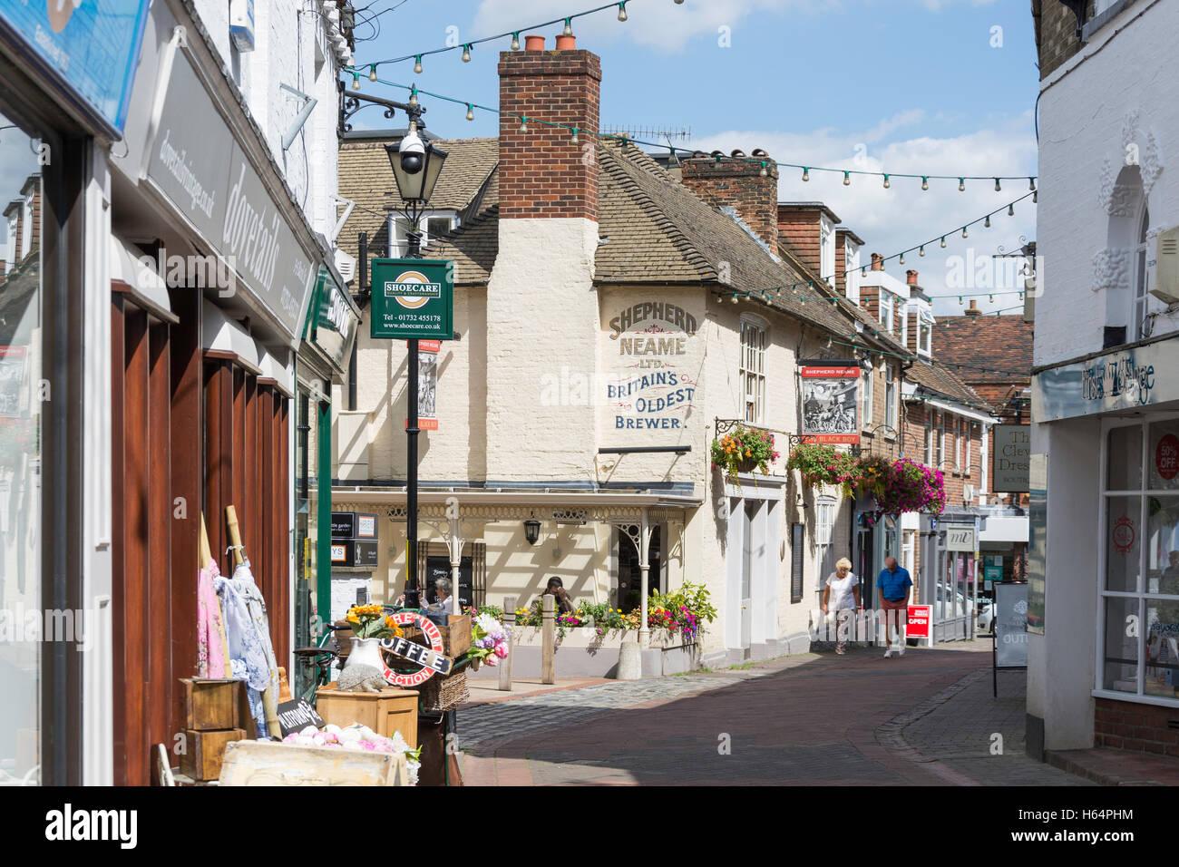 The Black Boy Pub, Bank Street, Sevenoaks, Kent, England, United Kingdom - Stock Image