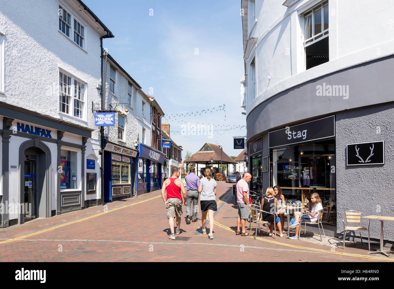 Outdoor Cafe Castle Street Ashford Kent England United Kingdom