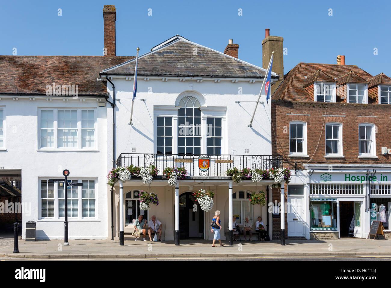 Tenterden Town Hall, High Street, Tenterden, Kent, England, United Kingdom - Stock Image