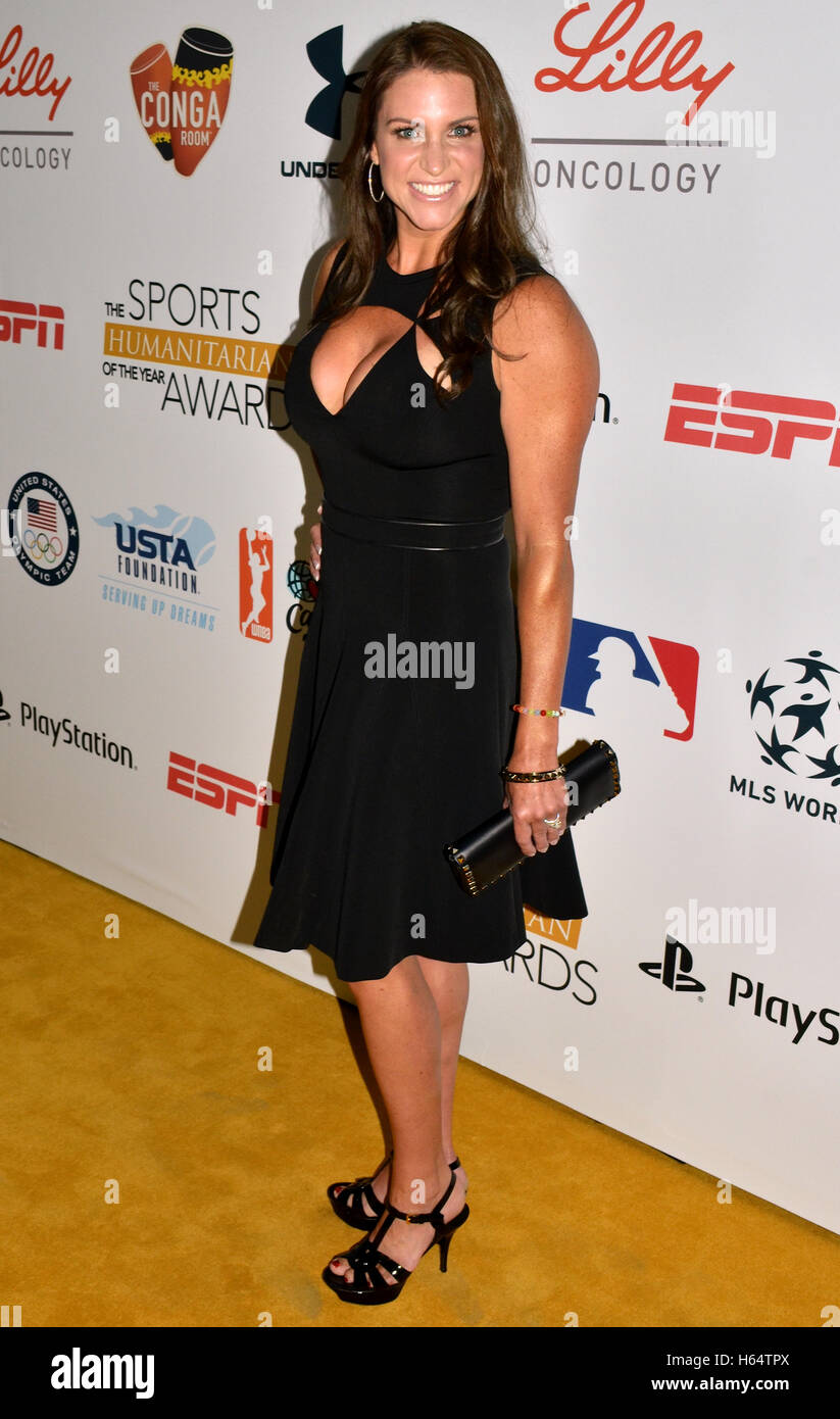Stephanie McMahon arrives at the First Annual Sports Humanitarian of the Year Awards, Presented by ESPN and PlayStation - Stock Image
