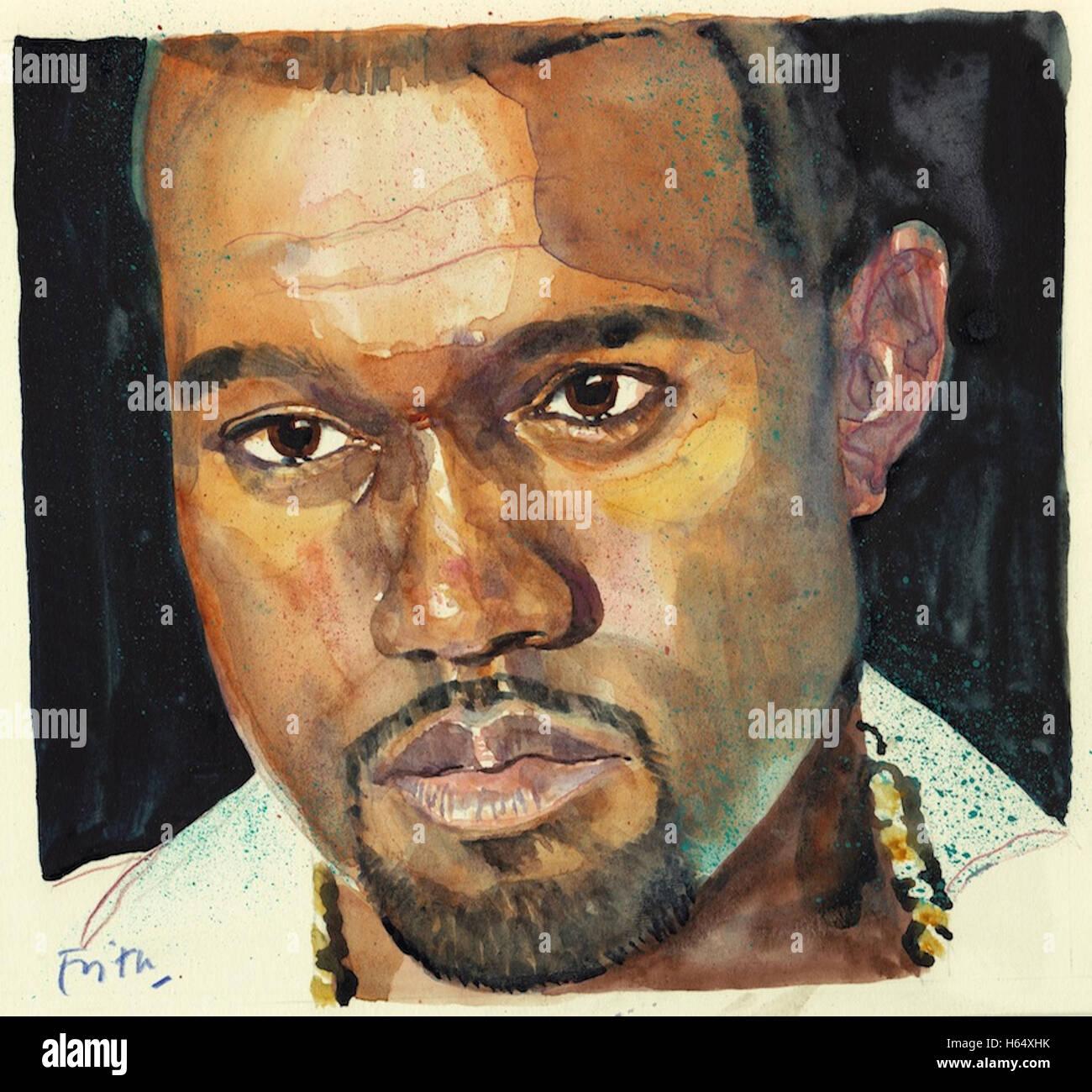 Kanye West - Stock Image