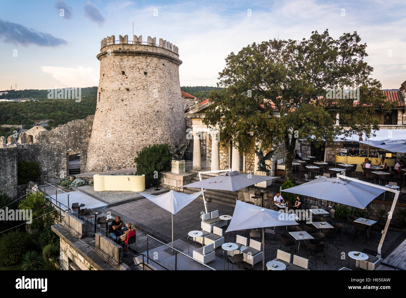 Trsat Castle, 13th century edifice, Rijeka, Croatia - Stock Image