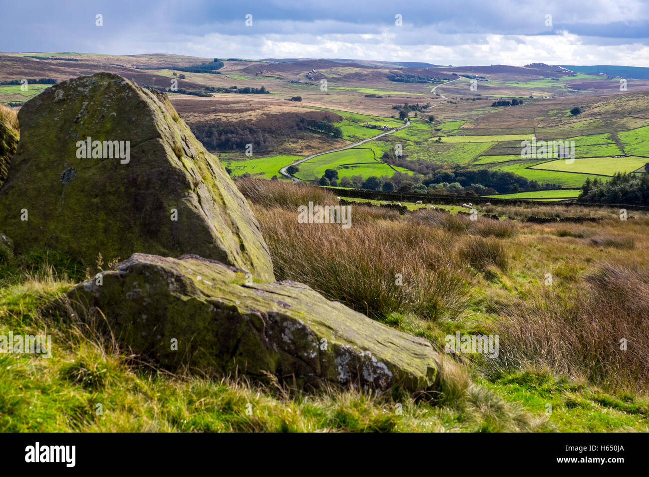 The Staffordshire Moorlands in the Peak District National Park - Stock Image