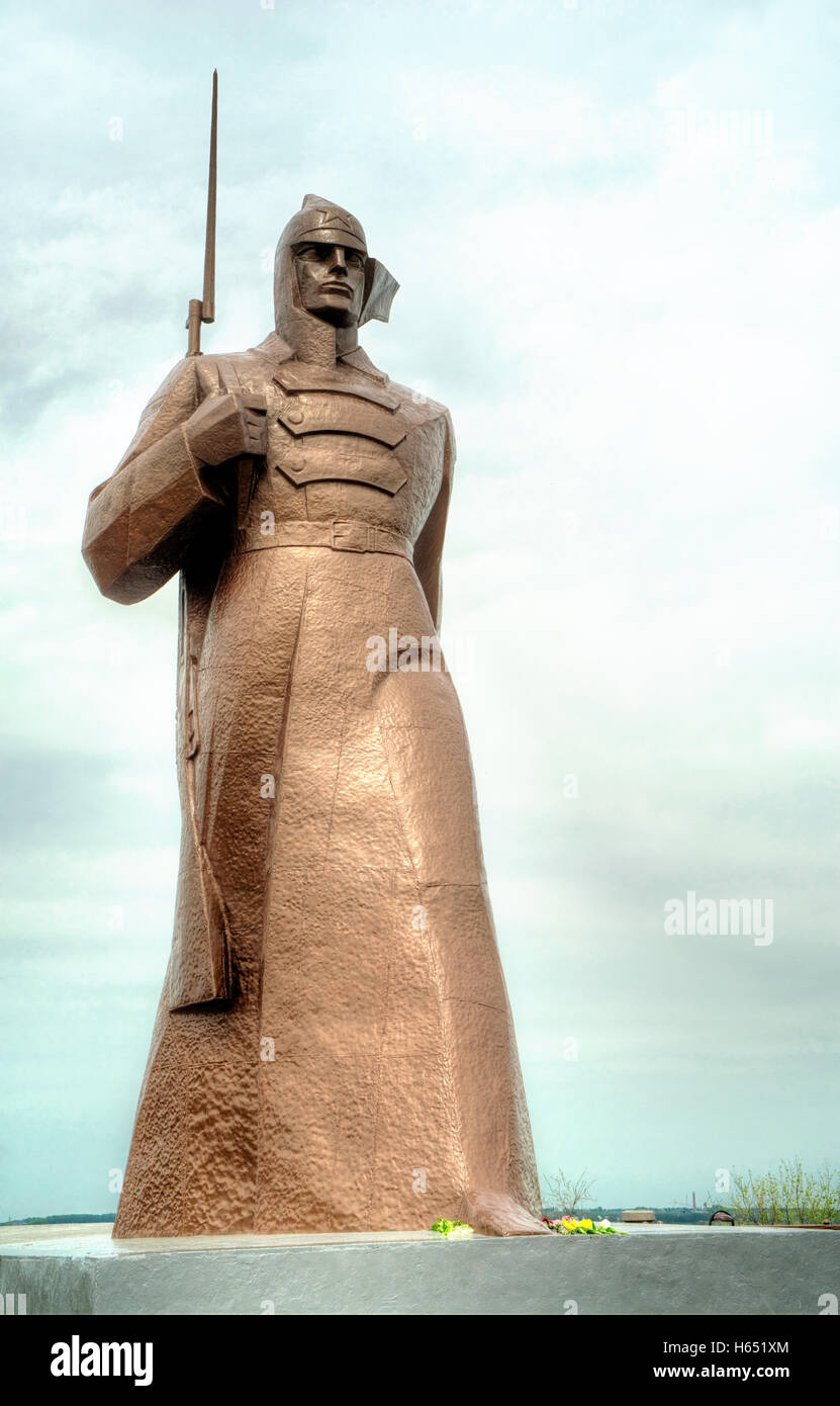 Monument to the Red Army liberated the Stavropol during the Civil War, 1917-1923 - Stock Image