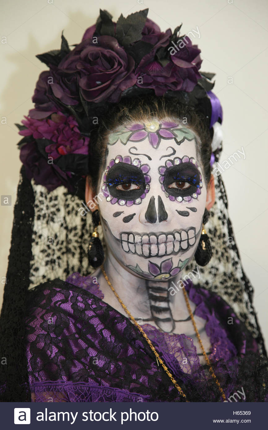 Young Woman Dressed As La Catrina The Diva Of Death During Stock