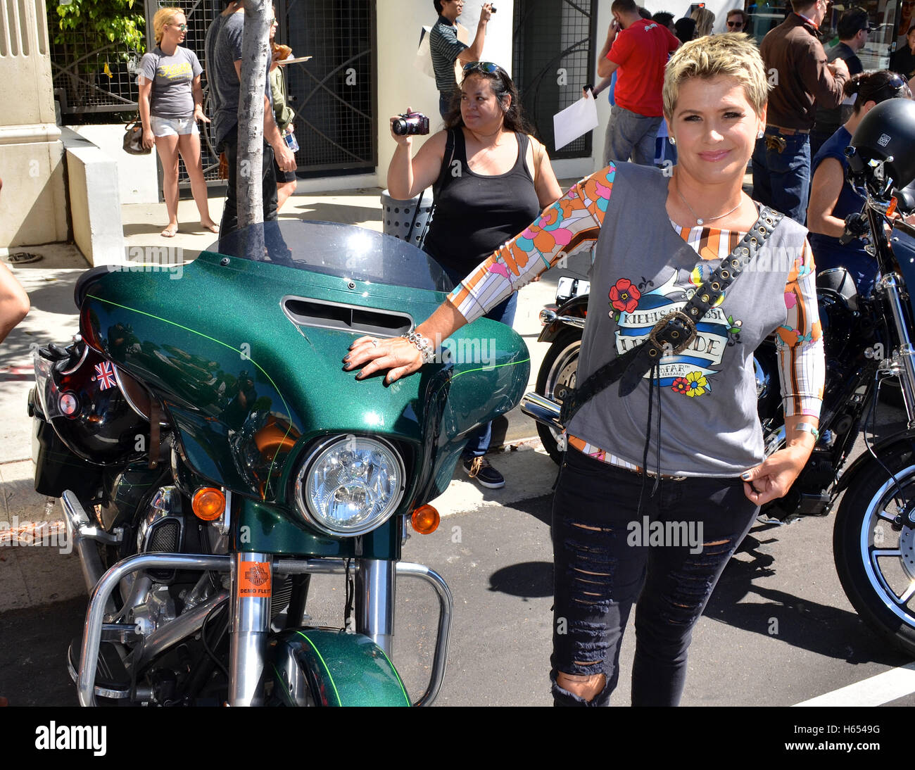 Kristy Swanson attended 6th Annual Kiehl's LifeRide For amfAR Celebration at Kiehl's Since 1851 - Stock Image