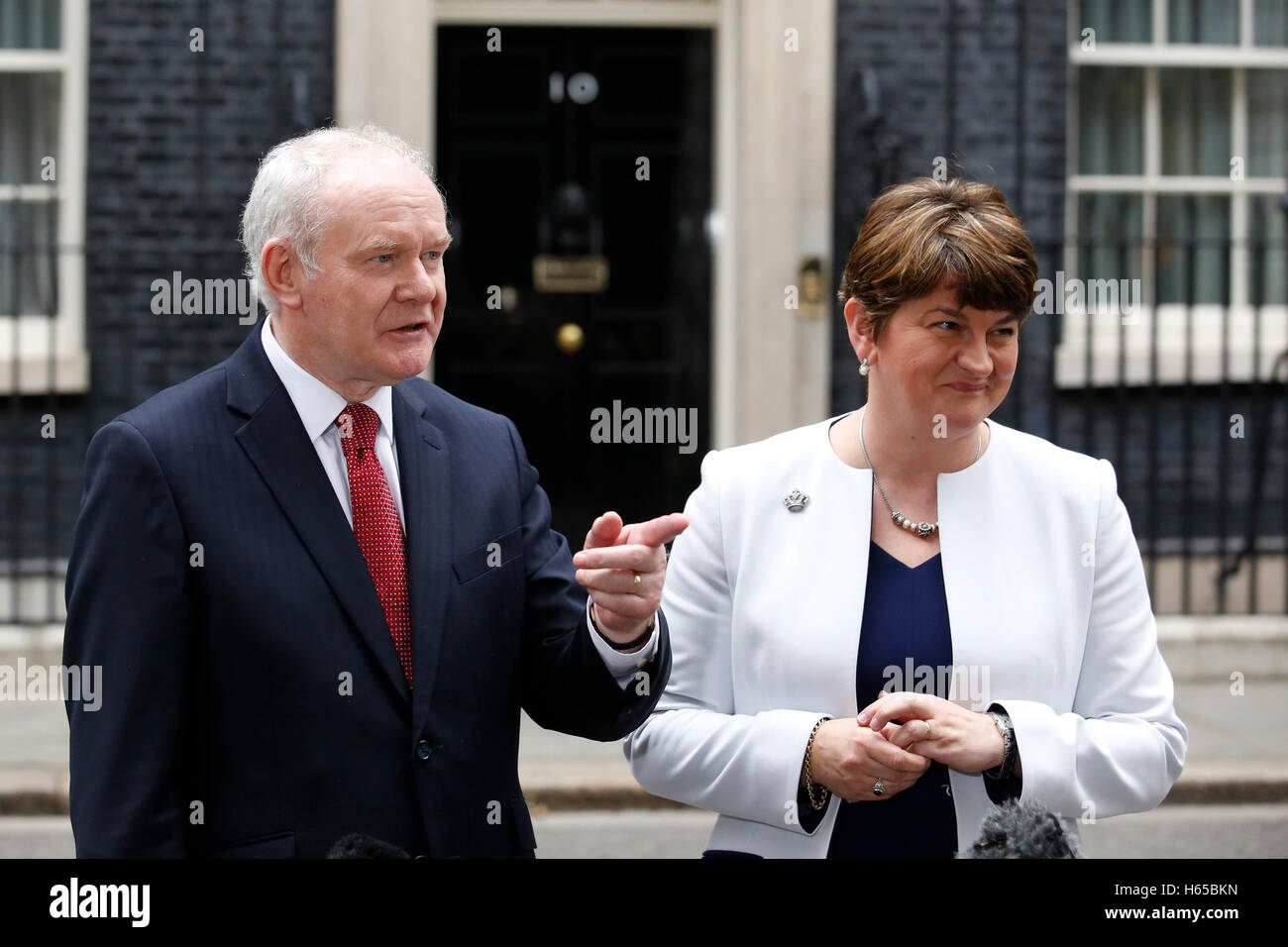 London, UK. 24th Oct, 2016. Deputy First Minister of Northern Ireland Martin McGuinness of Sinn Fein and First Minister - Stock Image