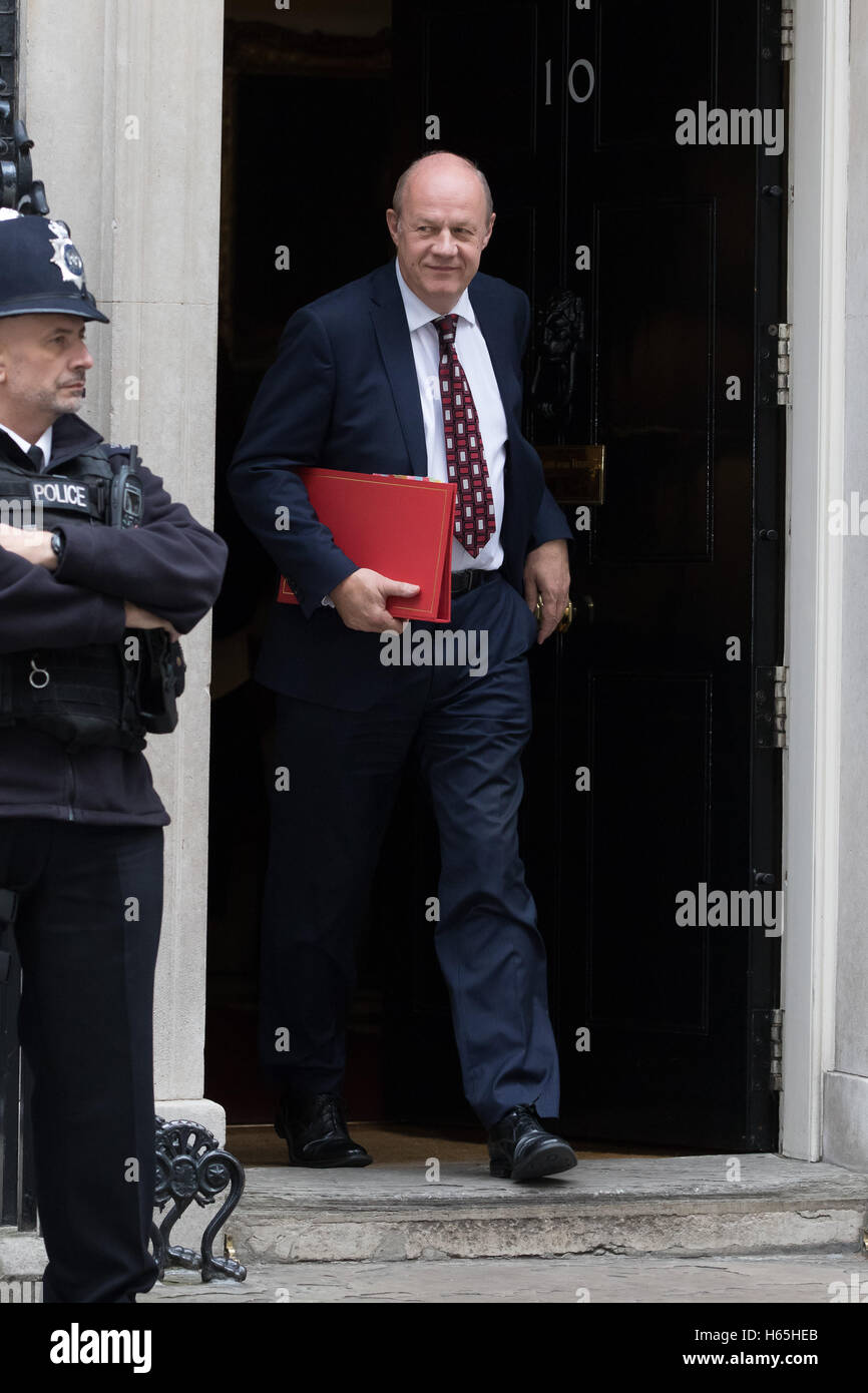 London, UK. 25th October 2016. Damian Green leaving a cabinet meeting at 10 Downing Street today.. Credit:  Vickie - Stock Image