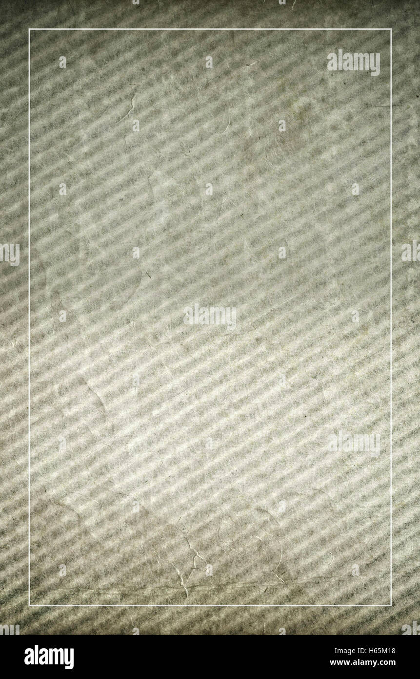 abstract wavy paperboard aged surface - copy space - Stock Image