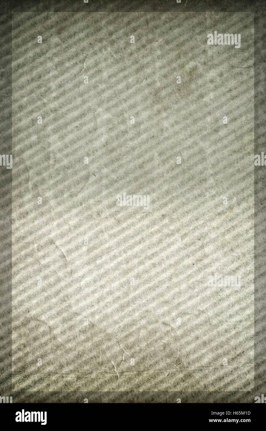 framed abstract wavy paperboard aged surface - copy space - Stock Image