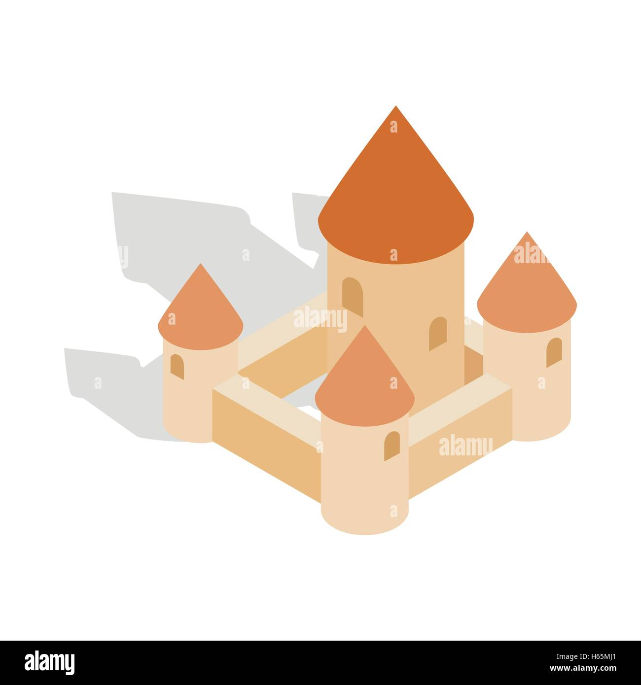 Chillon castle in Montreux city, Switzerland icon - Stock Vector