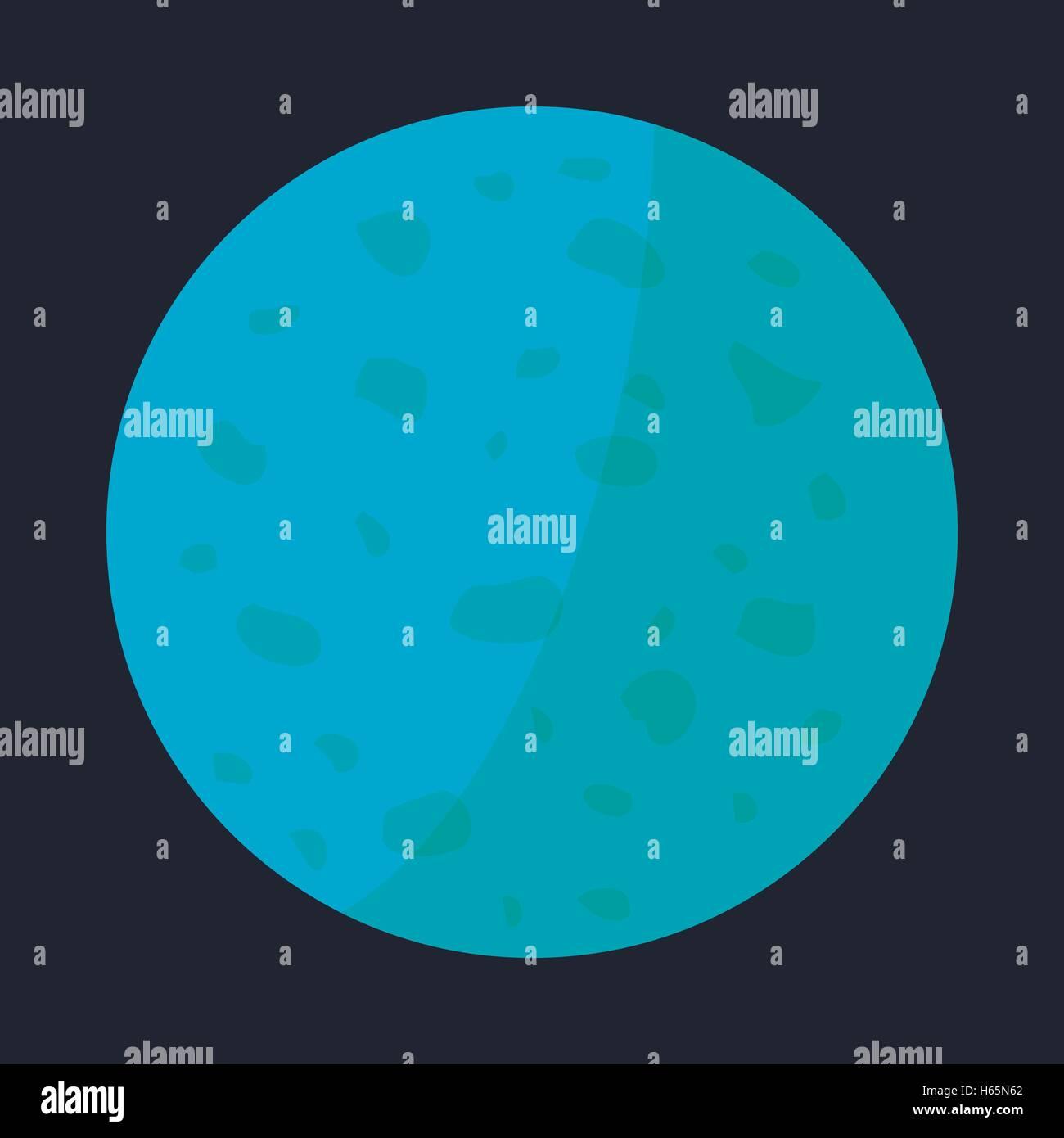 Venus planet icon, cartoon style - Stock Image
