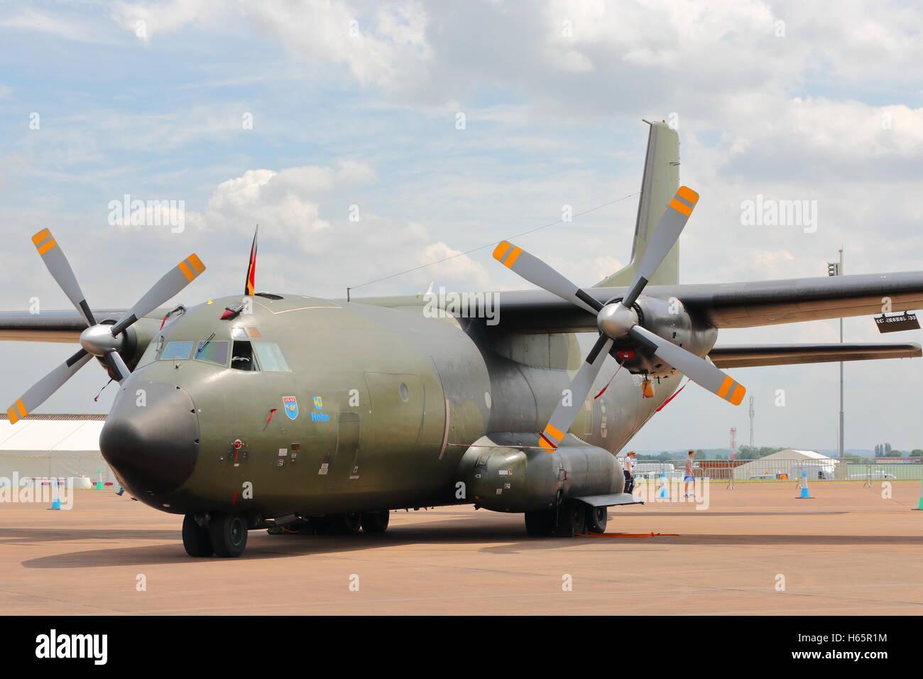 German Transall from LTG63 at RAF Fairford RIAT 2014 - Stock Image