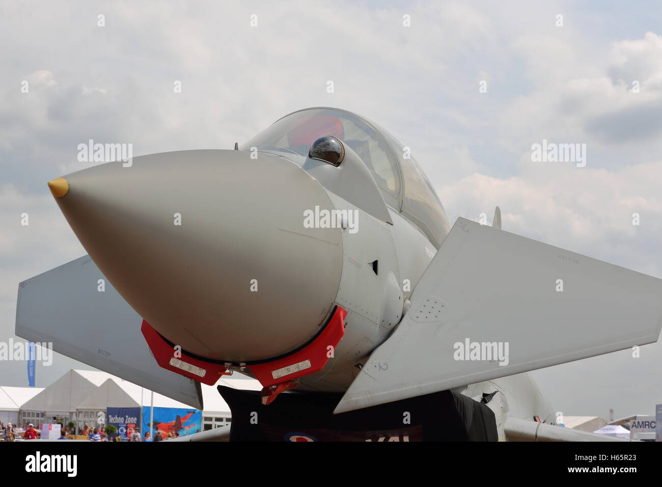 Eurofighter Typhoon at the RIAT 2014 in Fairford, UK - Stock Image