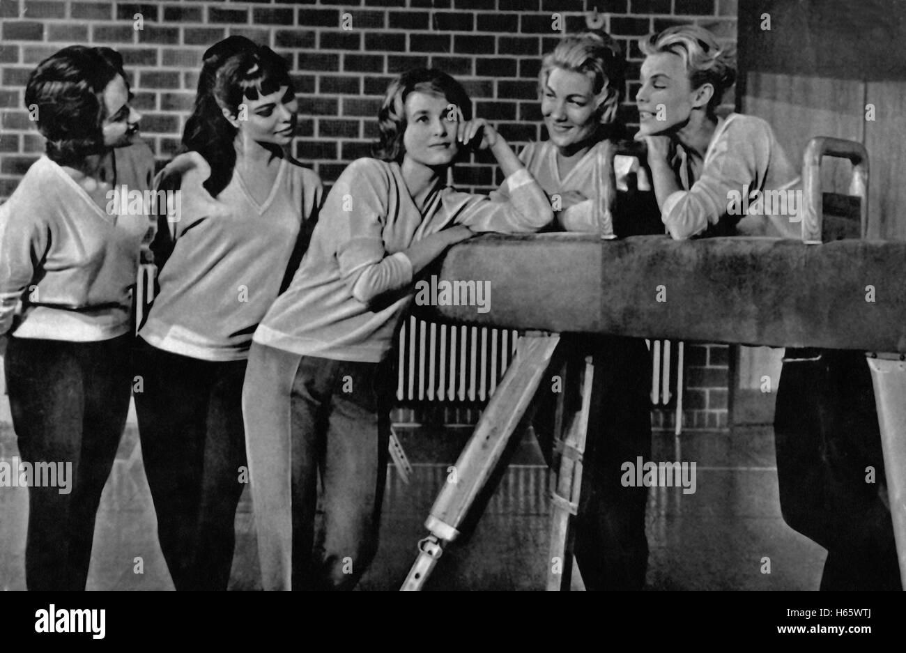 Forelsket i Kobenhavn, aka: Verliebt in Kopenhagen, Dänemark 1960, Regie: Finn Henriksen, Darsteller: Siw Malmkvist - Stock Image