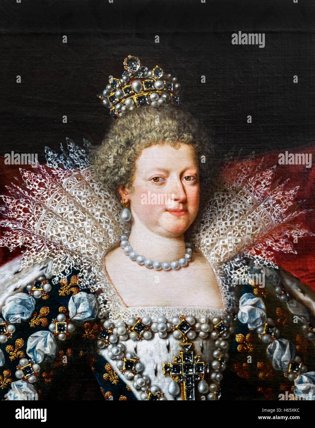 Marie de' Medici (Marie de Médicis: 1575-1642) was Queen of France as the second wife of King Henry IV - Stock Image