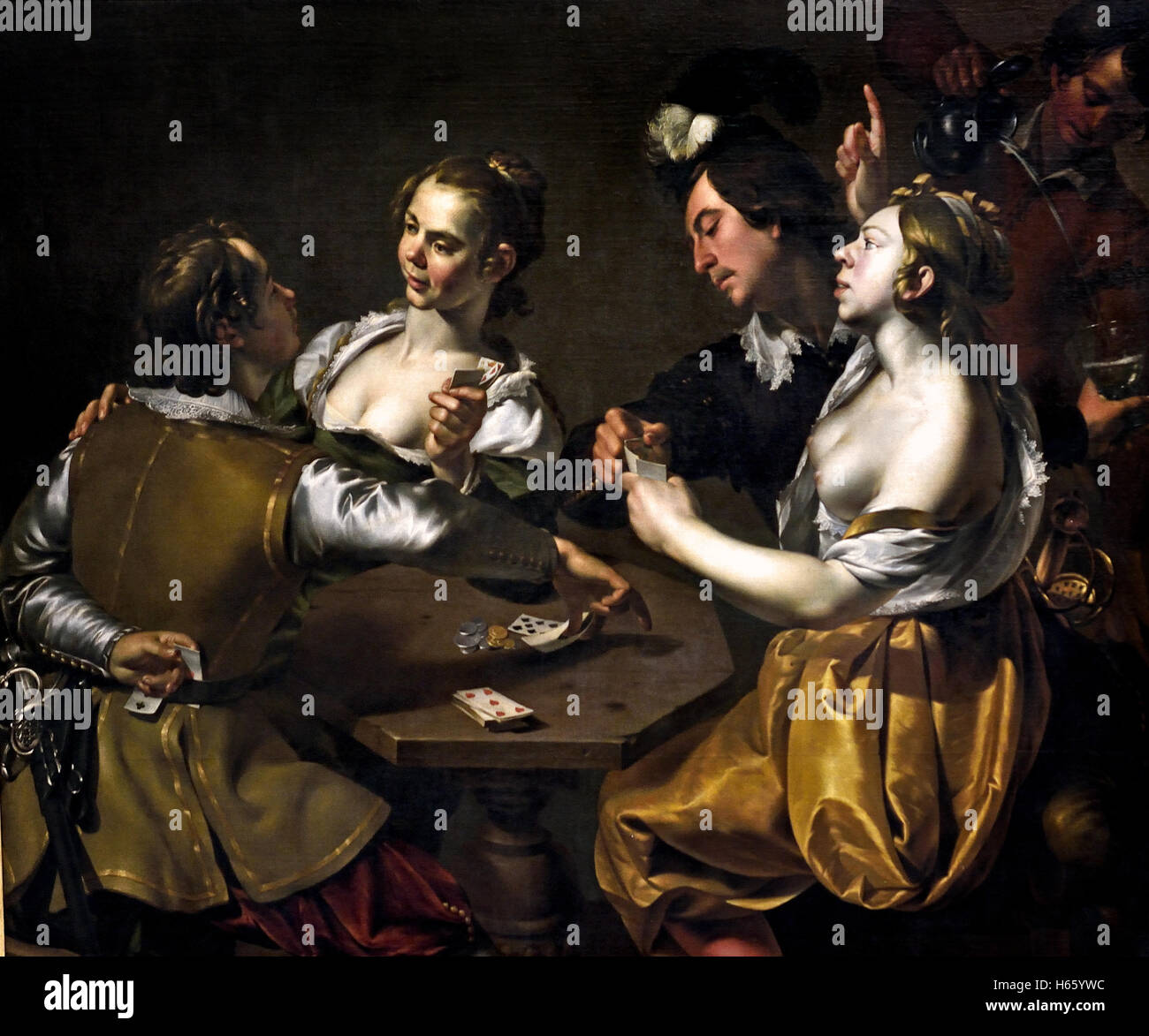 The cheater - sharper by Wouter Pietersz  Crabeth 1593 - 1644 painter Dutch Netherlands ( Golden Age ) - Stock Image