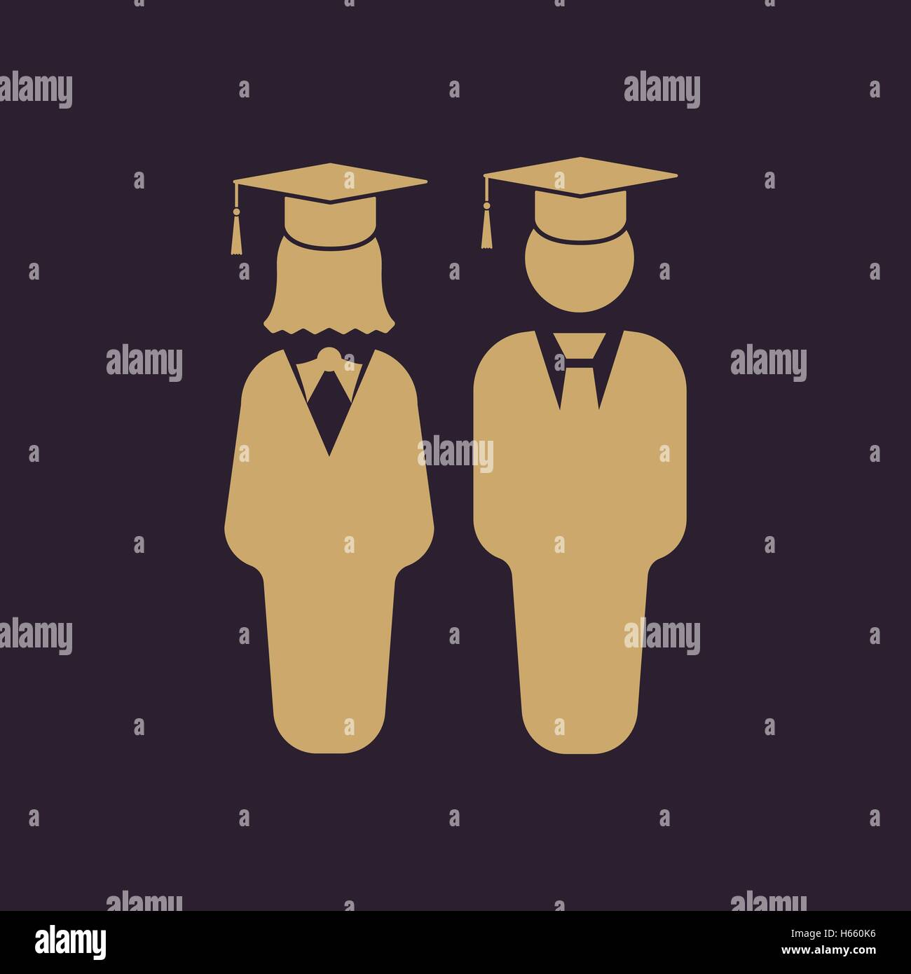 The Student Boy And Girl Icon School Academy College Education