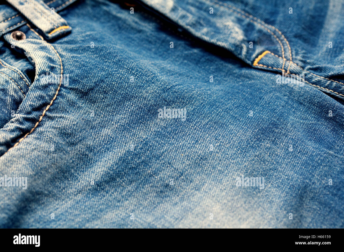 Close-up of denim jeans - Stock Image