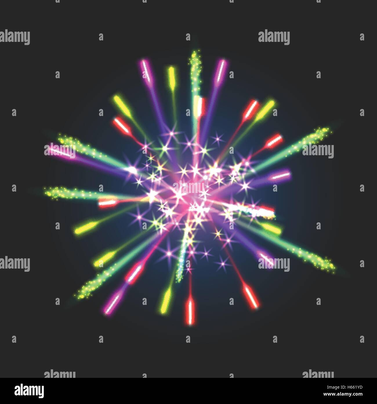 New firework sign - Stock Vector