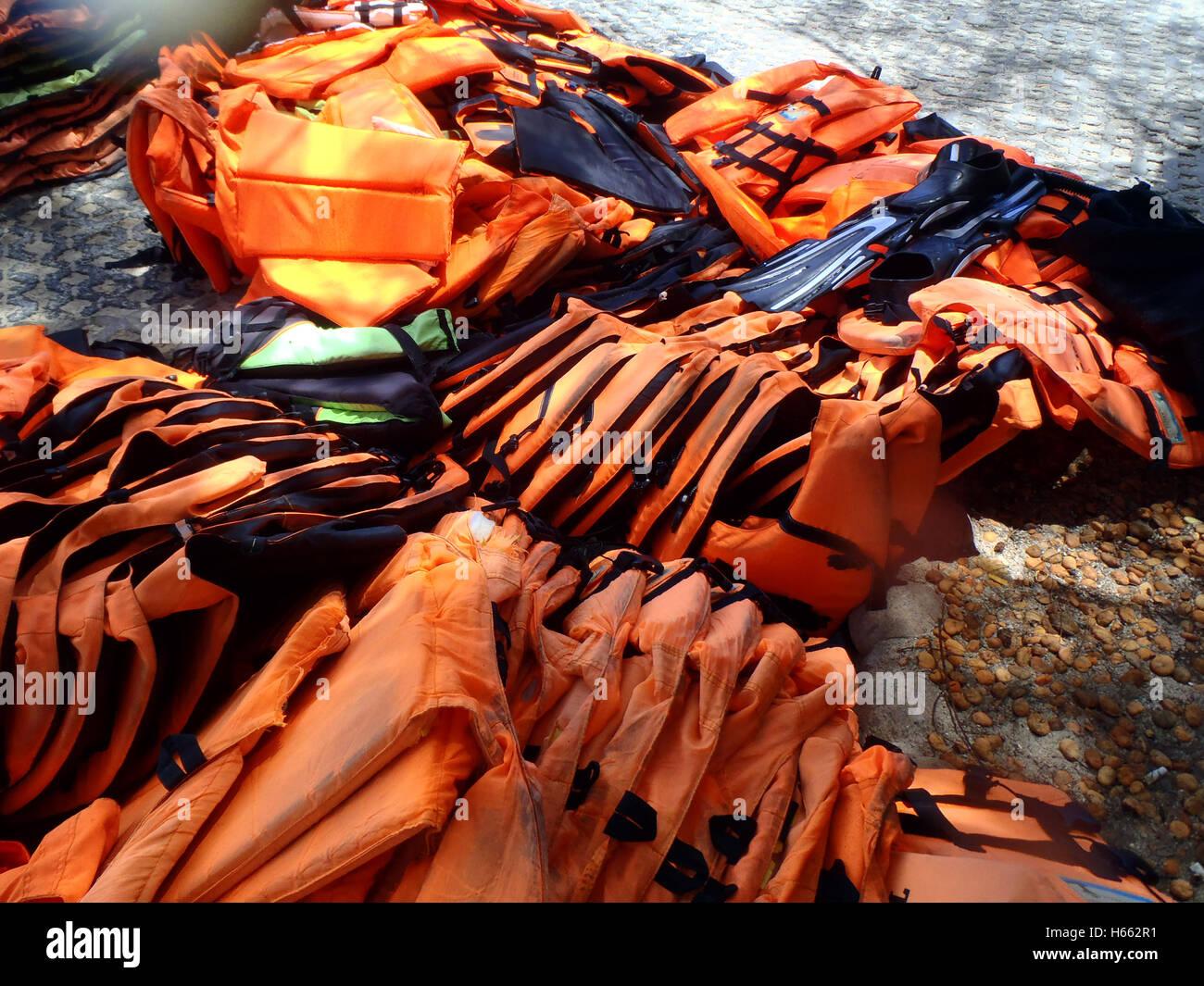 Life vest (jacket) photo - Stock Image