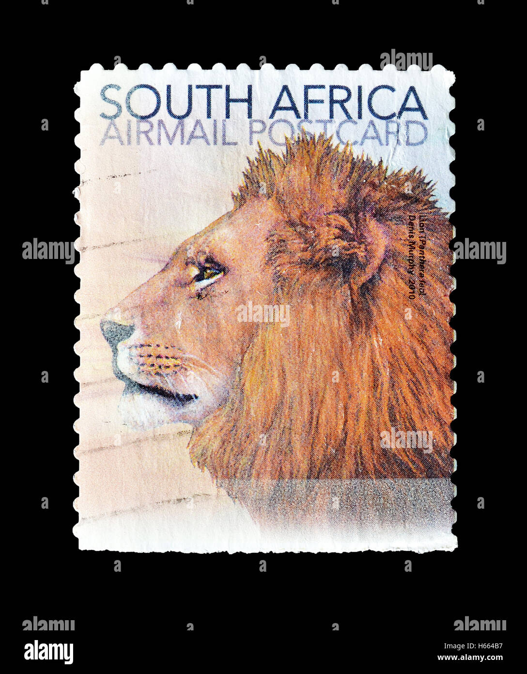 South Africa stamp 2010 - Stock Image