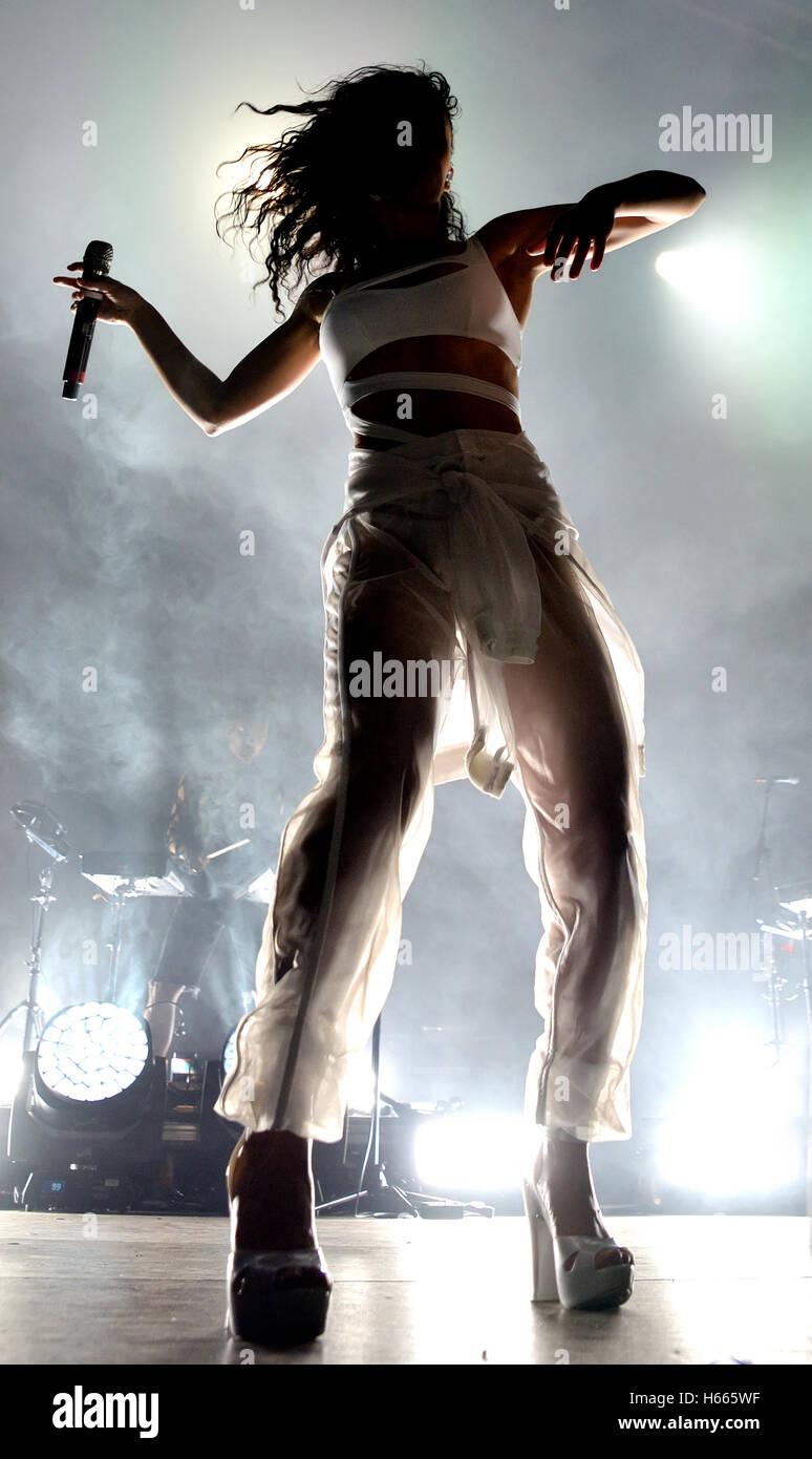 BARCELONA - JUN 20: FKA Twigs, also known as Tahliah Debrett Barnett (singer, songwriter, producer and dancer). - Stock Image