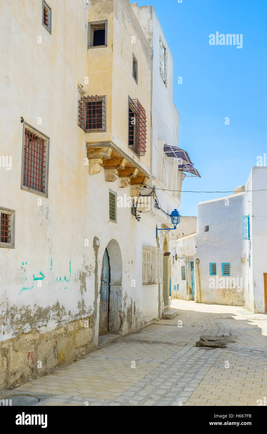 The old Kairouan is the beautiful place fr lazy daily walks, Tunisia. - Stock Image