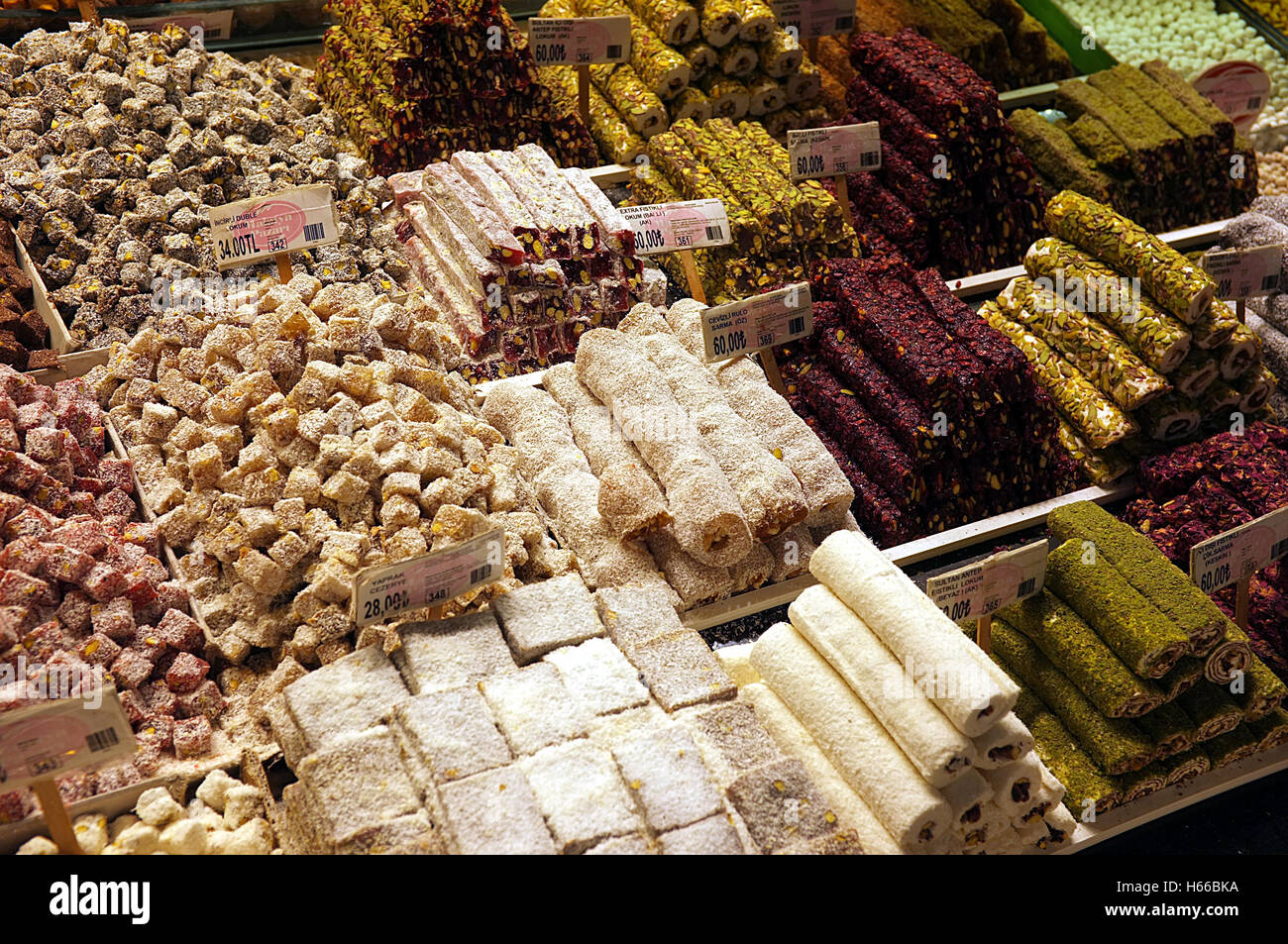 Turkish Delight / Lokum / Candy - Stock Image