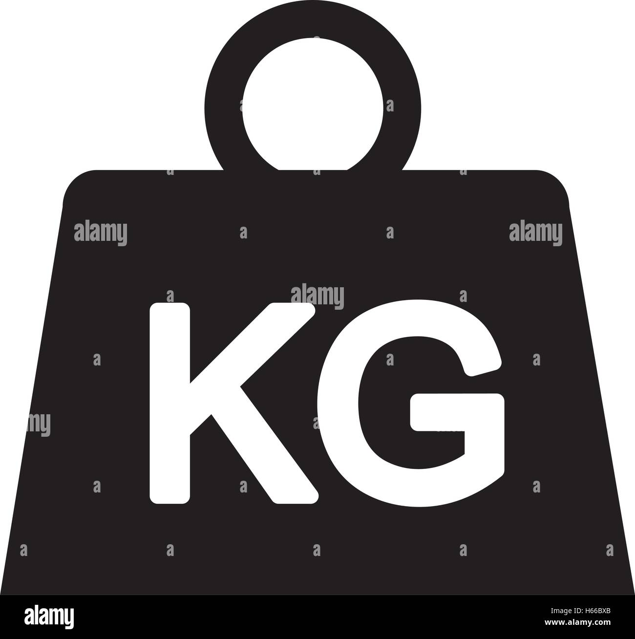 weight kilogram isolated icon - Stock Image