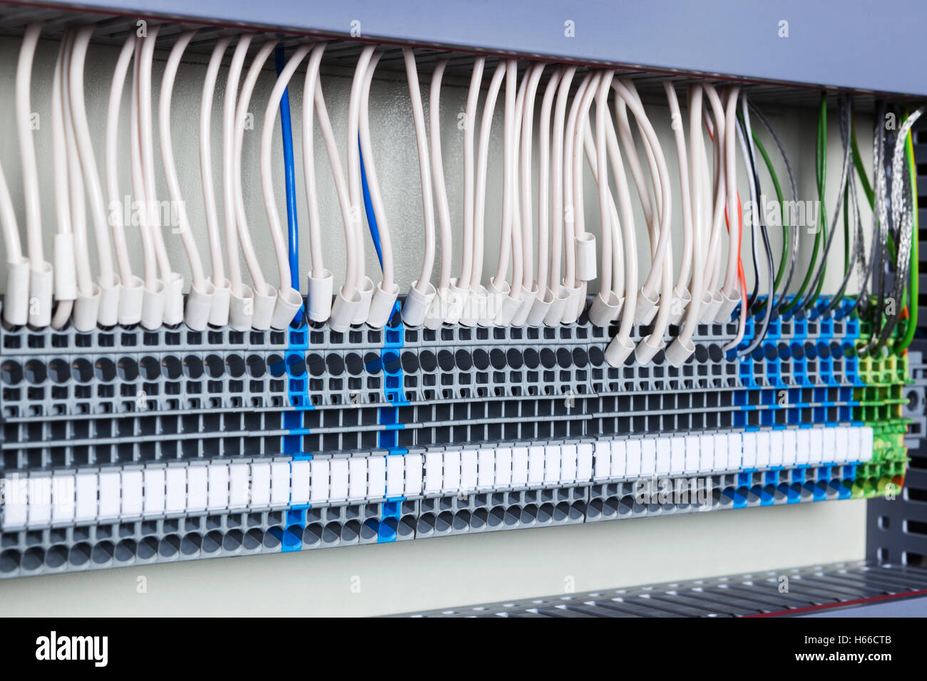 Stupendous Electrical Wiring In The Control Cabinet Stock Photo 124302315 Alamy Wiring Digital Resources Tziciprontobusorg