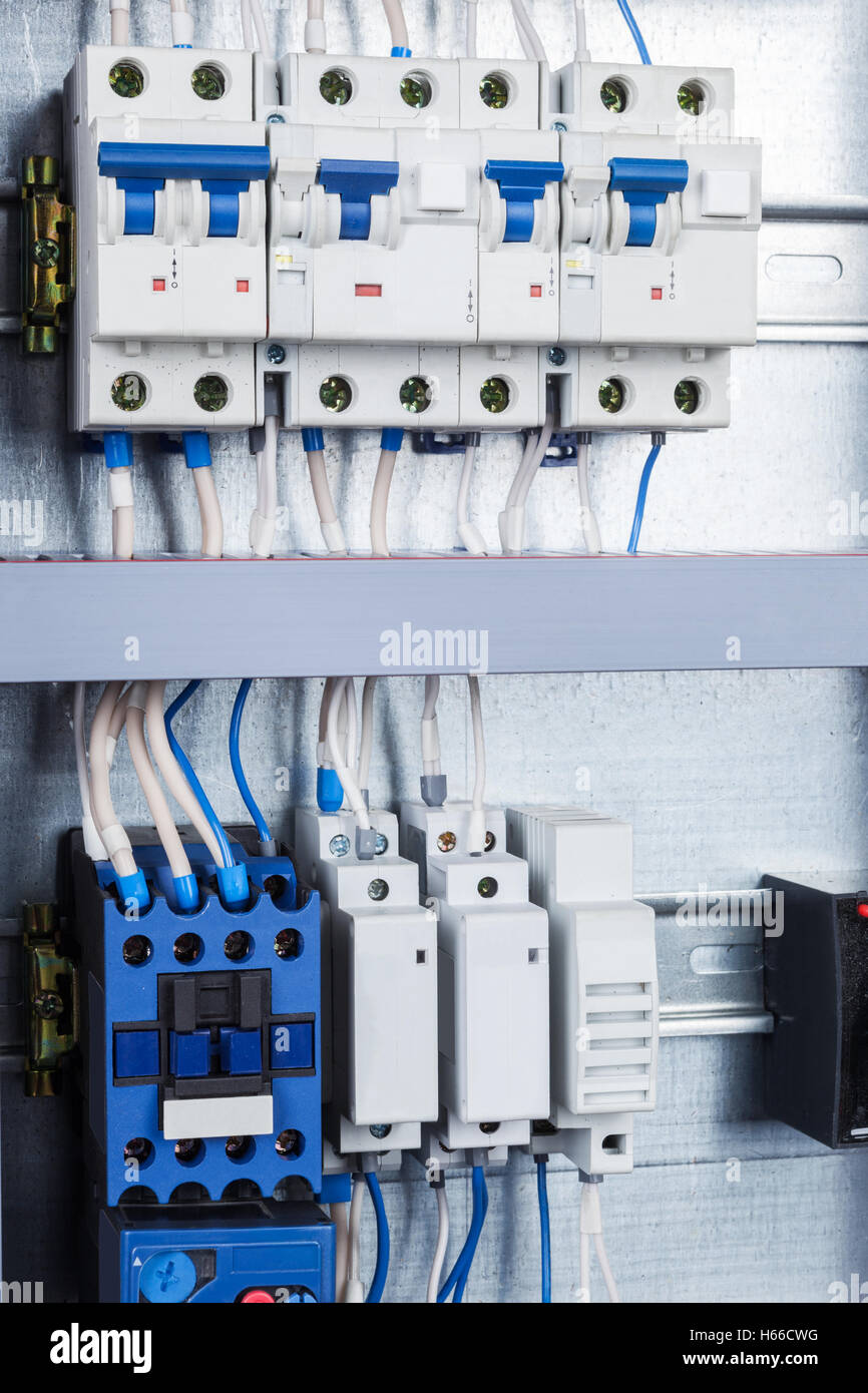 electrical wiring in the control cabinet