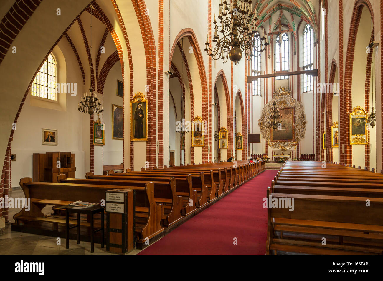 Interior of Corpus Christi church in Wroclaw, Poland. - Stock Image