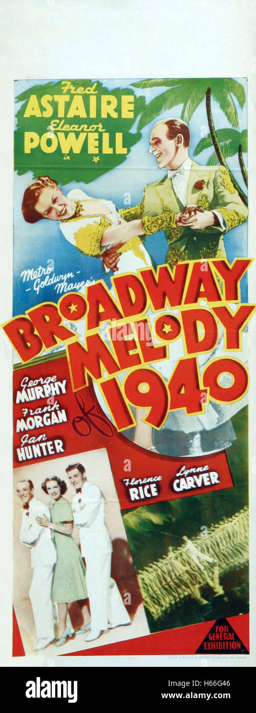 Broadway Melody of 1940 - Movie Poster - - Stock Image