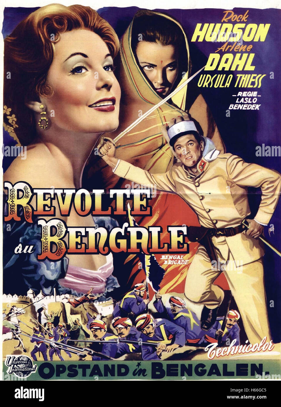 Bengal Brigade - French Movie Poster - - Stock Image
