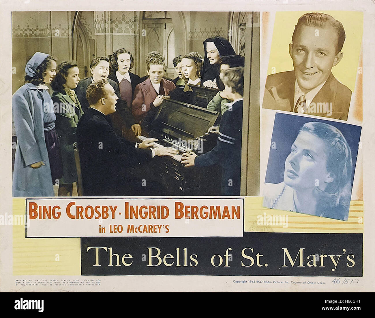 The Bells of St. Mary's - Movie Poster - - Stock Image