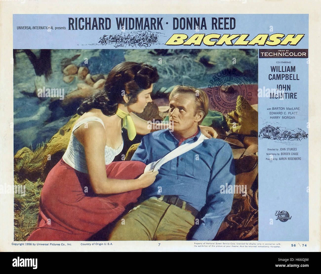 Backlash (1956) - Movie Poster - - Stock Image