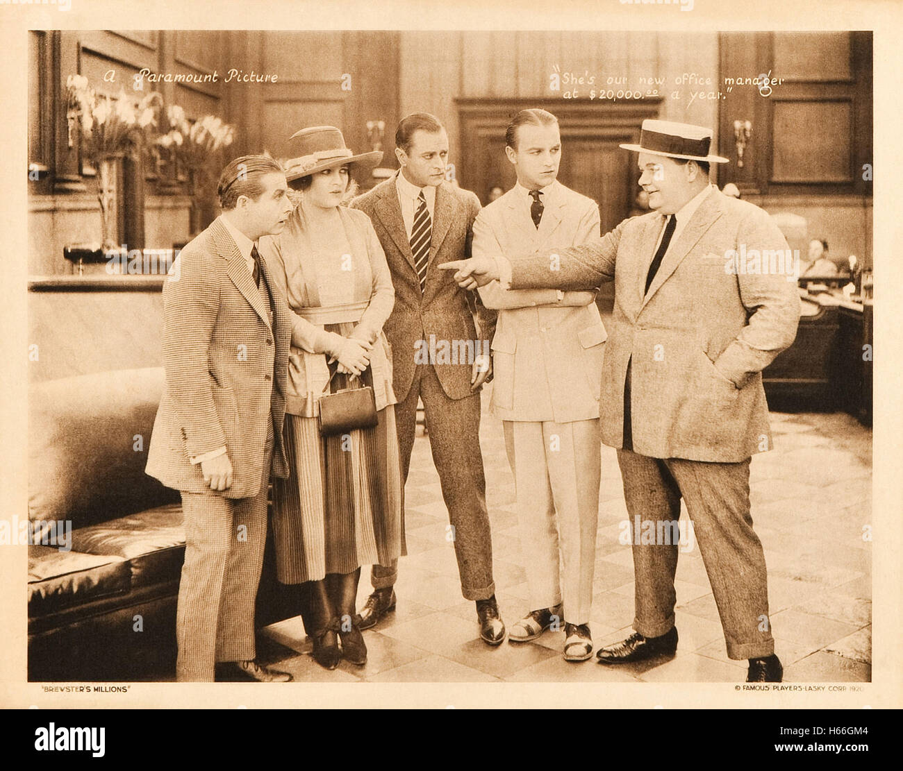 Brewster's Millions (1921) - Movie Poster - - Stock Image